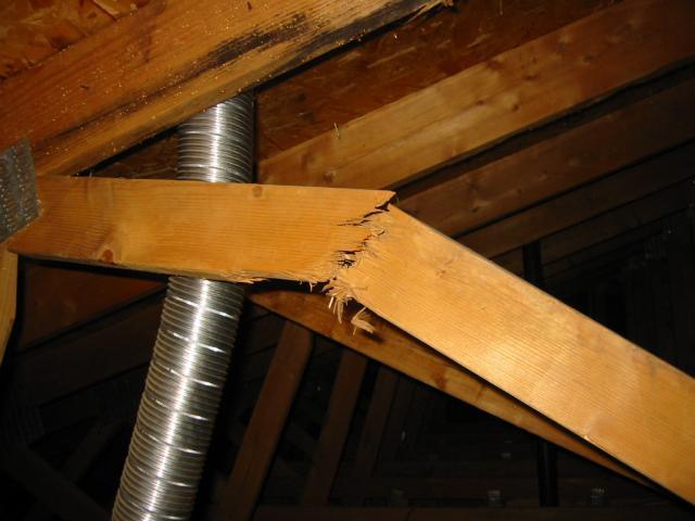 Broken Roof Truss Web First Choice Inspections